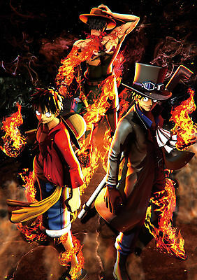 Poster A3 One Piece Lufy, Sabo y Ace Burning Blood 01