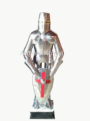 Armour Antique Wearable Knight Crusader Full Suit Of Armor Collectible Costume
