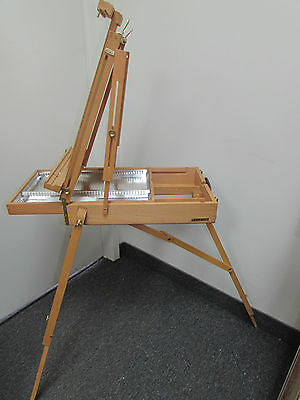 Deluxe Artist French Box Easel Beechwood with METAL DIVIDER & Palette NICE GIFT!