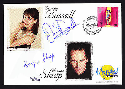 Darcey Bussell & Wayne Sleep Signed First Day Cover Artists Tale 1999 Dance FDC
