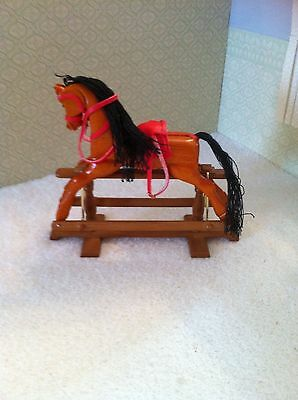 Dolls House Emporium 1:12th Scale Wooden Rocking Horse ... Discontinued Item ...