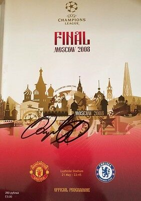 Ryan Giggs Signed Manchester United 2008 Champions League Final Programme