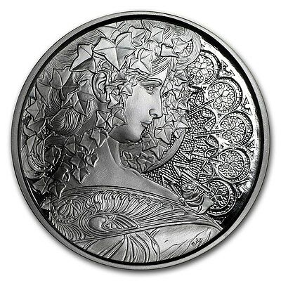 Alphonse Mucha Collection - IVY 1 oz Silver USA Made Proof Capsuled Round W/COA