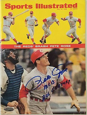 PETE ROSE Signed May 27, 1968 Sports Illustrated  - NEWSSTAND - TRISTAR COA