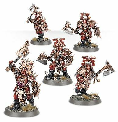 Age of Sigmar - Starter Khorne Blood warriors X5 squad Brand new Unboxed chaos