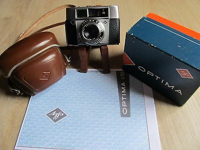 Vintage 1960's AGFA OPTIMA II S 35mm auto rangefinder Camera, case and BOX