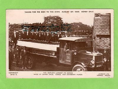 World's Largest Pie Series Denby Dale Lorry RP pc 1928 used Ref B656