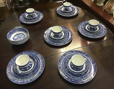Woods Ware Willow 36 Piece Dinner Set (Wood & Sons)