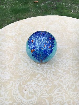 Hand blown Glass Friendship Ball  best friend or good friend gift no 95 blue