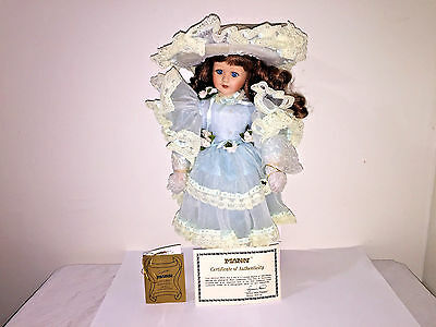 """19"""" Porcelain Doll """"Caroline"""" from Seymour Mann Connoisseur Doll Collection"""