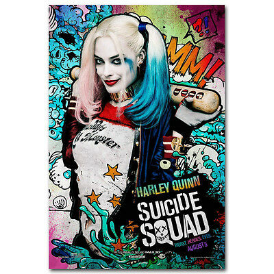 Harley Quinn Suicide Squad Superheroes Movie Silk Poster Canvas Print Wall Art
