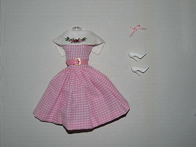 Barbie Collector Reproduction Fashion DANCING DOLL Pink Gingham Complete MINT