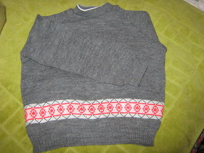 Vintage Boys Jumper Grey New Old Stock Size 24 On Label