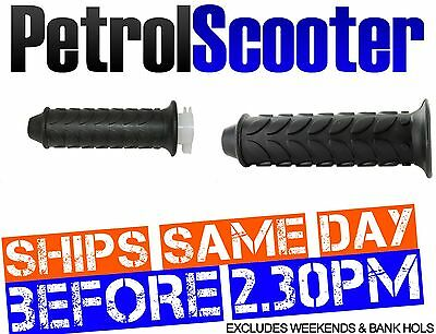 Twist Throttle Cable Grip Set 49cc 50cc 125cc Chinese Road Scooter Black Firm