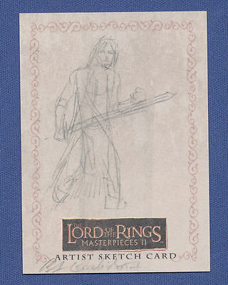 Lotr Lord Of The Rings 1/1 Sketch Card Brent Woodside 2008 Topps Masterpieces R3