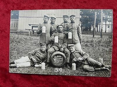 Original German Military Photograph-Company of Young Soldiers in 1910