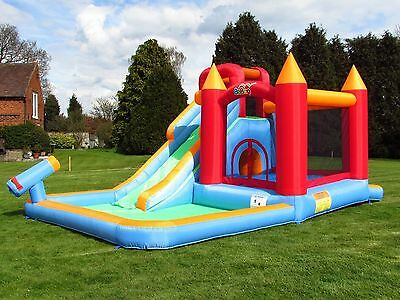 Summer Water Splash Bouncy Castle Slide Combo Garden Kids Children Play Party