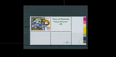2012- Flowers Of Romania Ii- Snake-Michel 6591 Stamps+Postal Labels