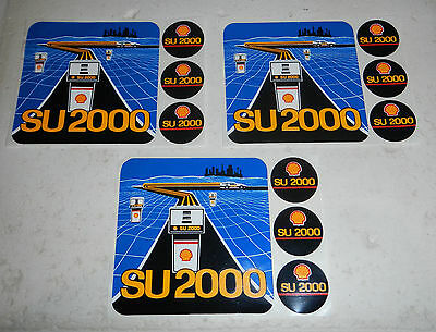 Lot of 3 Shell Oil Company Shell SU 2000 Gas Station Logo Stickers