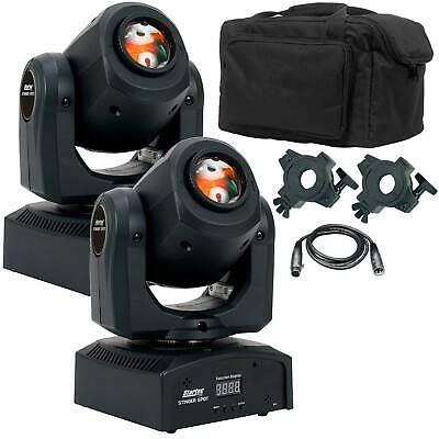 (2) American DJ Stinger Spot Mini Moving Head Lights with Carry Case
