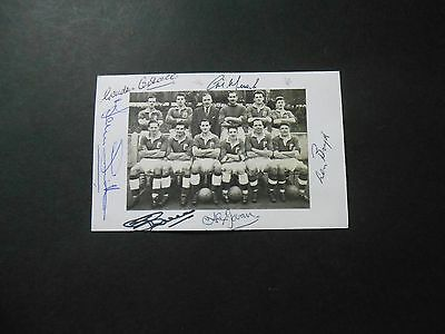 Birmingham City Division 2 Champions teamgroup 1954-55 postcard signed by six