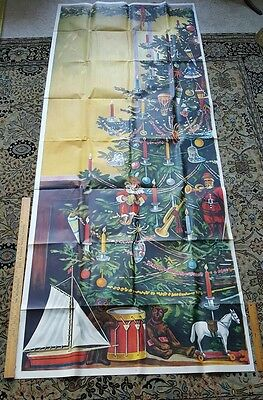 "Early 1900's MERCHANTILE/STORE CHRISTMAS POSTER DISPLAY 105"" RARE!!"