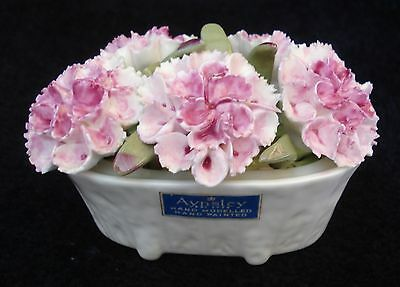 Vintage 70'S Aynsley Fine Bone China Floral August Carnation Bouquet England