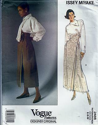 VOGUE 2486 sewing pattern Misses' Issey Miyake Blouse & Skirt size 6,8,10 UNCUT