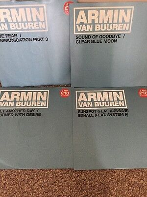 "4 x Armin Van Buuren 12"" Trance Blue Fear/Sound of Goodbye/Burned With Desire"