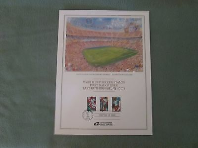 1994 World Cup Soccer Stamps, First Day Issue, Giants Stadium NJ Poster Football