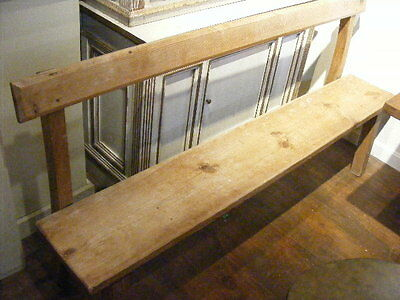ANTIQUE PRIMITIVE PINE BENCH Lot 241