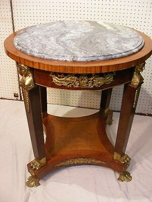 FRENCH MARBLE TOP CENTER TABLE Lot 173
