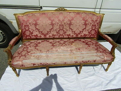 LOUIS XVI FRENCH GILT SOFA Lot 86
