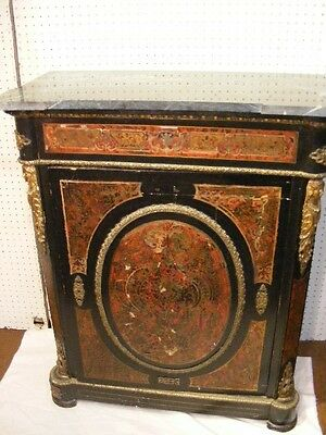 FRENCH BOULLE MARBLE TOP CABINET Lot 93