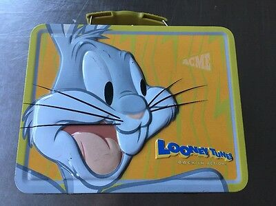 •Vintage• Collectible •Looney Tunes• Tin Lunch Box• BUGS BUNNY• Yellow