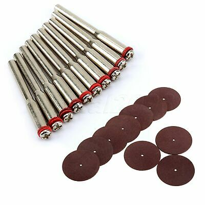 10PCS 38mm Grinding Cutting Slitting Wheels Disc & 3.175mm Mandrel Rotary Tool