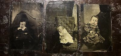 3 unusual tintypes hidden mother and post mortem?