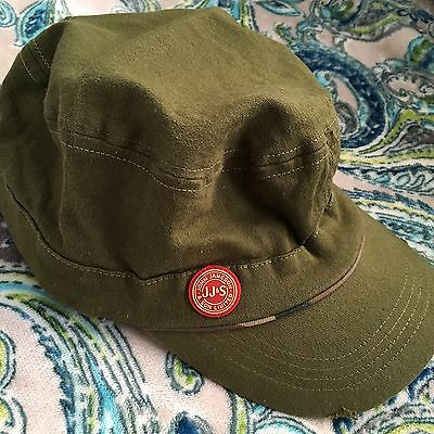 JAMESON IRISH WHISKEY Military Style Hat Baseball Cap Distressed Stretch Green