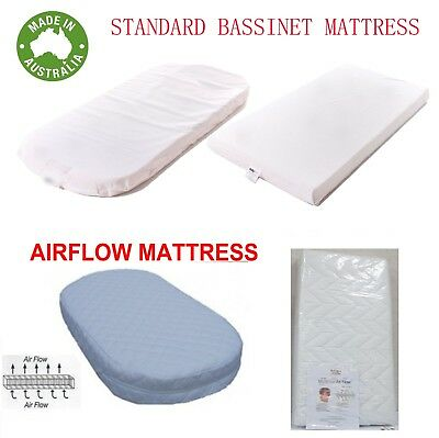 New Bassinet Cradle Mattress Pad  Baby Australia Made Rectangle Round ALL SIZES