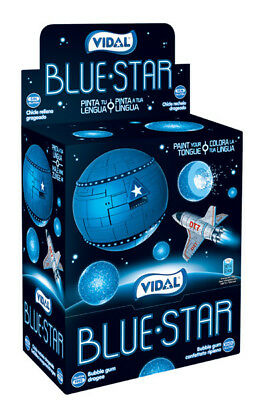 Vidal Blue Star Bubble Gum (200pc display box)