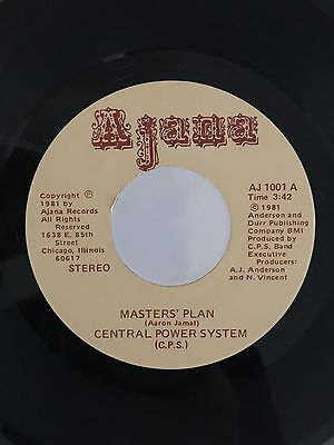 Central Power System, Masters' Plan, Very Rare Modern Soul / Boogie 45