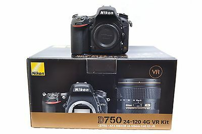 New - Nikon D750 24.3MP DSLR Camera - Kit Box - 3 Year Warranty