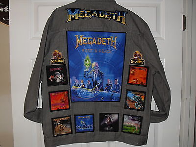 Megadeth Tribute Jackets-GRAY XL....Slayer,Anthrax,Iron Maiden,ACDC,Testament