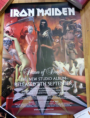 Iron Maiden Dance Of Death Uk Vintage Promo Poster 2003