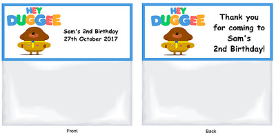 HEY DUGGEE Personalised Birthday Party/Loot Favour Bags & Toppers x 15