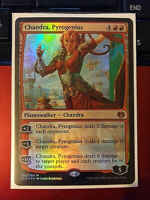 MTG FOIL planeswalker Chandra Pyrogenius. MTG Magic the Gathering