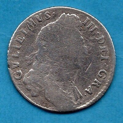 1697 Silver Shilling Coin. King William Iii.  1/-