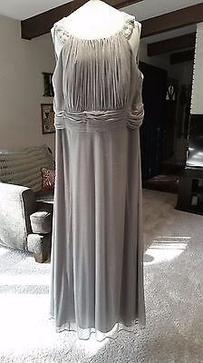 """Mother of the Bride formal Gray dress; David's Bridal """"Cachet"""", Size 22W"""