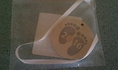 Longaberger 2016 Wood Crafts Baby tie-on  Boy or Girl  NEW  Ready to ship