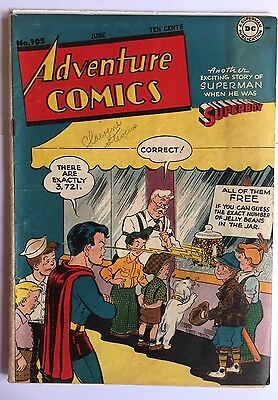 Adventure Comics # 105  Superboy, Aquaman, Green Arrow VG+ 1946 Scarce